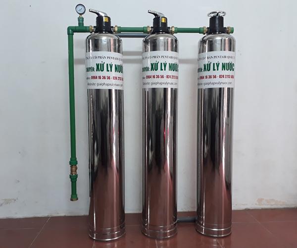 Hệ thống lọc xử lý nước lại nước máy nhiễm Sắt, Mangan, asen, độc tố, loại bỏ canxi, magie, amoni làm mềm nước cứng(TNM3)